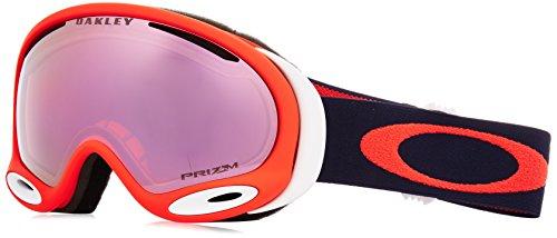 Oakley A-Frame 2.0 - Maschera da Sci Unisex, Unisex, OO7044-67, Coral Fathom/Prizm Snow Hi Pink Iridium, Taglia Unica