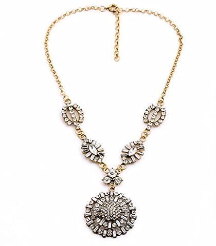 Fun Daisy Fashion Ear Jewelry New Alloy Gem Flower Female Necklace - xl01295