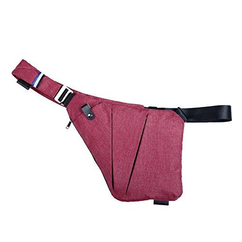 Yy.f Pistole Digitale Speicherbeutel Mannschulterkurierbeutel Multifunktionsbeutel Brustsporttaschen Geldbörsen Taschen Gezeiten Farbe 2 Pink