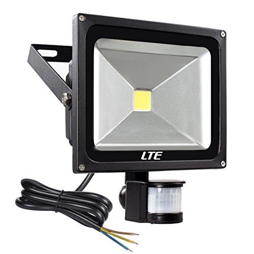 LTE Faretto LED Esterno 30W Faro con Sensore di Movimento Illuminazione Esterno Impermeabile IP65, 6000K 2400 Lumen