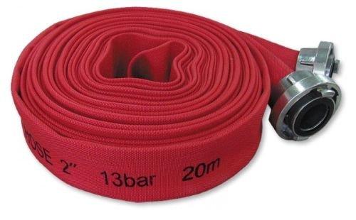Bradas WLPH1320020 Bauschlauch Premium 2 Zoll mit C-Storz Kupplung 20 m, 13 Bar, Rot, 20x20x2,5 cm