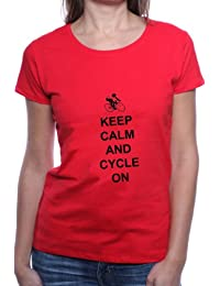 Mister Merchandise Femme Chemise T-Shirt Keep Calm and Cycle on