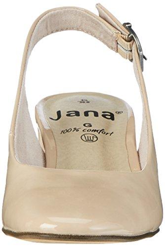 Jana 29503, Sandali con Zeppa Donna Beige (Dune Patent 406)