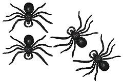 Idea Regalo - My Planet 4x Giant Monster ragni finti Disgustoso spaventoso decorazione di Halloween horror party accessori