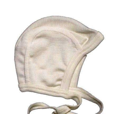 Cuffietta per prematuri in lana mista seta...