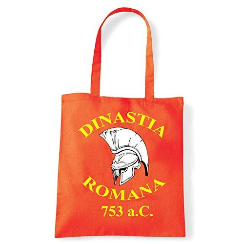 Art T-shirt, Borsa Shoulder Dinastia Romana, Arancio