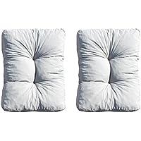 Ambientehome 90407 - 2er set salón almohada almohada repuesto aproximadamente 70x60x13 cm cojín amortiguador trasero super cómodo