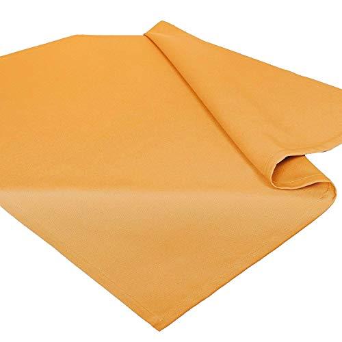 Tovaglie Serie VENEZIA / 85x85 cm / Misto cotone / giallo arancione