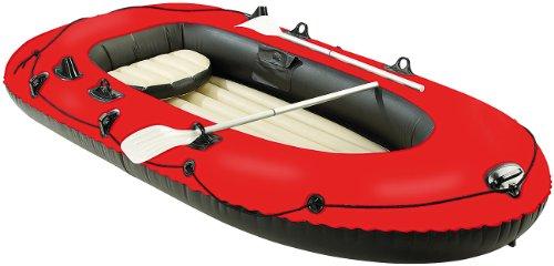 Speeron Gummiboot: 4-Kammer-Schlauchboot mit Pumpe & Paddeln, für 2 - 3 Personen (Boat)