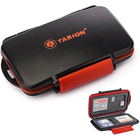 TARION Scatola di protezione per le schede di memoria Box Caso Compartimenti impermeabili per SD / CF / XD / TF card e USB flash drive