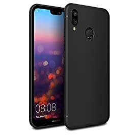 EasyAcc Case for Huawei P20 Lite Black TPU Cover Phone Case Matte Finish Slim Profile Phone for Huawei P20 Lite