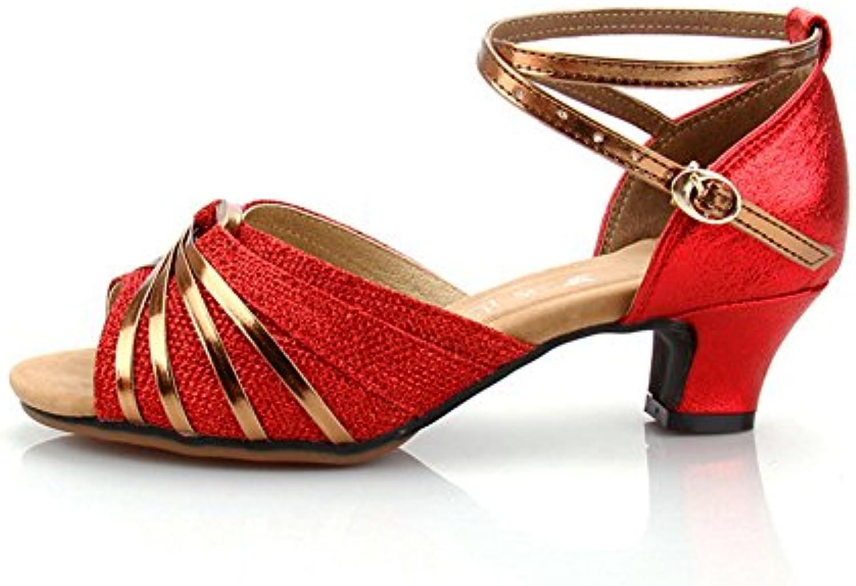 Femme's Chaussures De Danse Chaussures Latine,Talons Moyens Chaussures De Danse Fond Mou Chaussures Danse De Danse De SalonB07KGBMMFCParent f29cb2