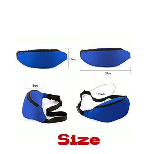 Waist Bag for iPhone X 8 7 6s 6 Plus Galaxy S6 S7 Edge S8 Plus Note 8 - Riñonera , LBlue (Azul) - 1259153804