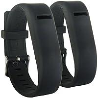 HopCentury di nuovo stile di sostituzione Fitbit Flex Strap fascia del braccialetto da polso Banda regolabile con fibbia e maniche sicuro per Fit po Flex Tracker Nero - 2
