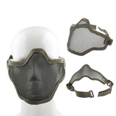 Metall Protektor Halbgesichts-Maske für Paintball / Gotcha / Airsoft / Mask / Farbe: Armee grün