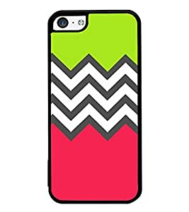 Fuson Zig Zag Pattern Designer Back Case Cover for Apple iPhone 5c (Ethnic Pattern Patterns Floral Decorative Abstact Love Lovely Beauty)