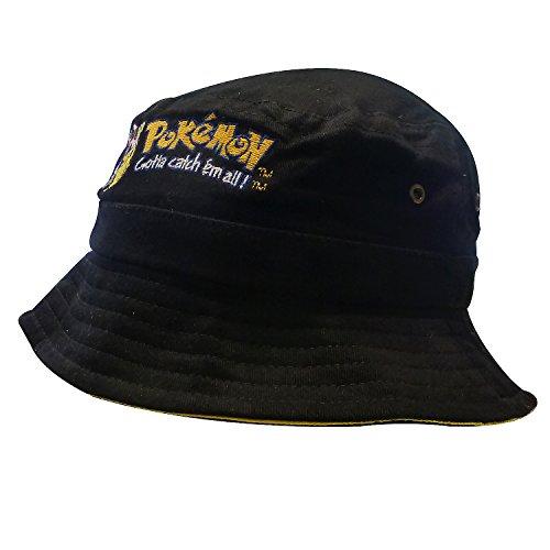 Nintendo Original Pokémon | Mütze | Kappe | Fischerhut | Kinder | 56 cm | 100% Baumwolle | Ash und Pikachu-Stickerei | ()