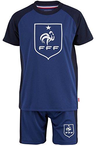 Maillot + short FFF - Collection officielle Equipe de France de Football - Taille enfant garçon 4 ans