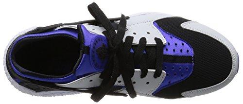 Nike Air Huarache, Baskets Basses Homme, Gris, 41 EU Morado / Plateado / Negro (Persian Violet / Pr Platinum-Blk)