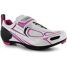 Zapatillas de ciclismo Muddyfox TRI100, para mujer, impermeables, con paneles superiores de malla