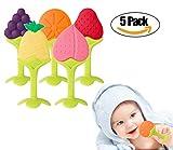 Baby-Kinderkrankheiten-Spielwaren, Nahrungsmittelgrad-Silikon-Frucht-Baby-Beißringe BPA geben nicht giftig für Baby auf wunden Zahnfleisch frei