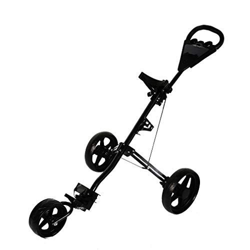 20aab6ea23b4 Generic HTweight Blackey Cart Bullet Rueda Plegable compacta Cruiser Ligero  Carrito de Golf Negro Plegable