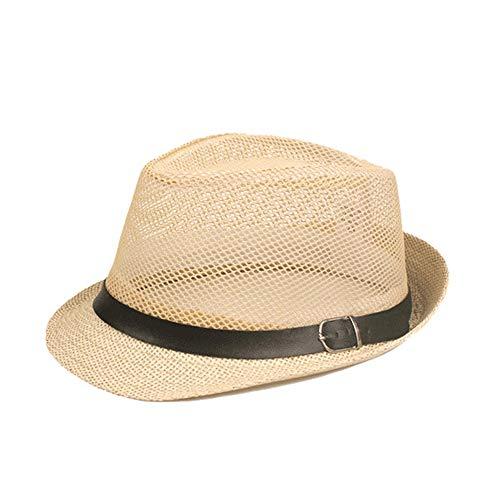 zhuzhuwen Cappello Cappello Inglese Parasole Traspirante Cappello Primavera e Estate Maglia Paglia Cappello Jazz degli Uomini 5 56-62cm