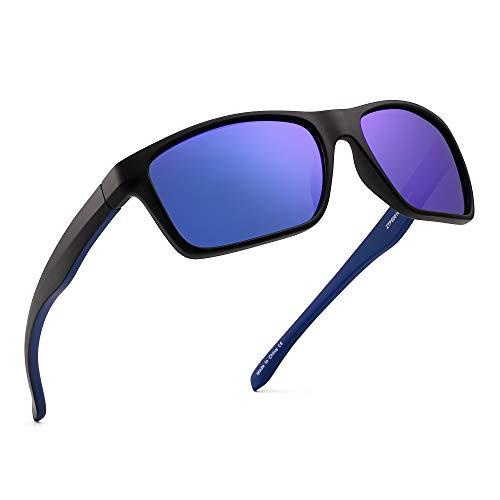 b6fcedda36db1 JIM HALO Polarizadas Deportivas Gafas de Sol de Espejo Wrap Alrededor  Conducir Pescar Hombre Mujer(