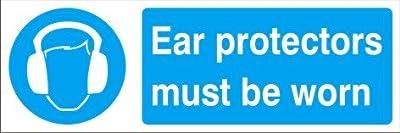 Gebotszeichen–Gehörschutz zu tragen,–Hart-PVC 300x 100mm