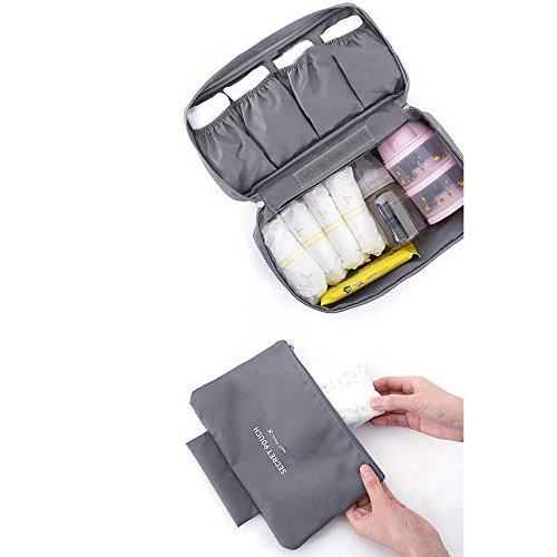 NEWELL Reisegepäck Organizer/Verpackung Organizer Wasserdichte Tragbare Staubdicht Langlebige Maschine Waschbar Multifunktions Reise Speicher Für,Gray (Speicher-würfel-set)