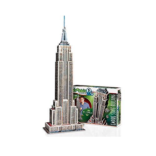Wrebbit W3D-2007 - Puzzle 3D Empire State, 975 Pezzi