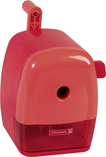 Brunnen 102987223 Spitzmaschine Kurbel Colour Code (mit Tischzwinge, für dicke und dünne Stifte bis 11,5 mm) rot / red -