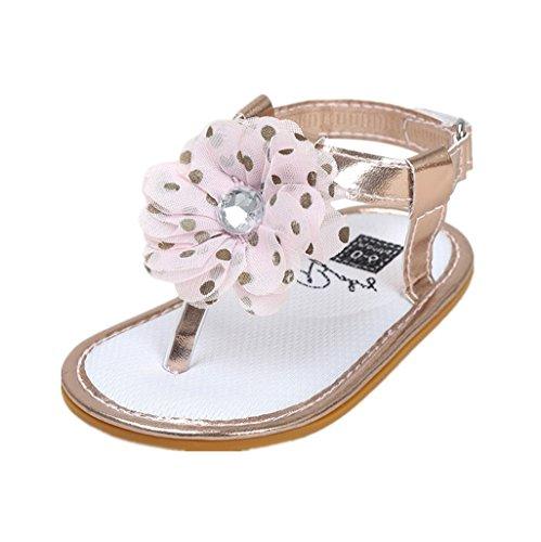 Baby Schuhe Auxma Baby Mädchen Blumen Sommer Sandalen Anti-Rutsch-Krippe Schuhe Für 3-18 Monate (7-13 M, D)