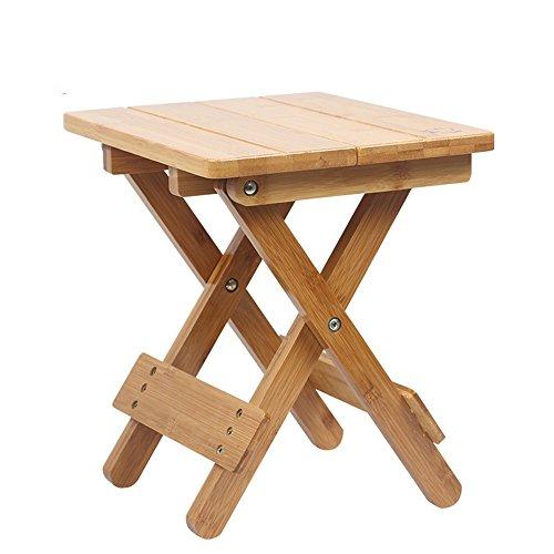 LJHA Tabouret pliable chaises pliantes Portable ménage tabouret carré en bois massif Mazar chaise de pêche en plein air 2 couleurs disponibles Taille en option chaise patchwork (Couleur : B)