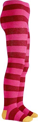 Playshoes Mädchen Thermostrumpfhose Blockringel Strumpfhose, Mehrfarbig (pink 18), 110
