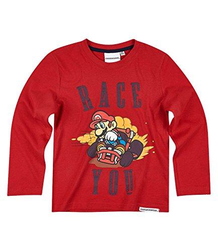 Super Mario Bros Chicos Camiseta mangas largas - Rojo - 128
