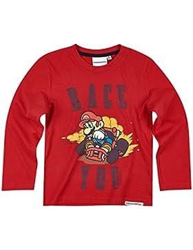 Nintendo Super Mario Bros Chicos Camiseta Mangas largas - Rojo