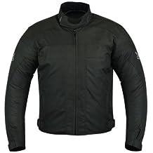 Motardzone - Chaqueta de invierno, talla XL, color negro