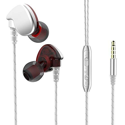 Nordira Kopfhörer Kabelgebunden, Schwere Bässe Stereo Wired In-Ear Sport Wasserdichte Ohrhörer mit Mikrofon Schwarz