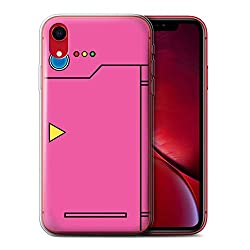 Stuff4 Gel TPU Hülle/Case für Apple iPhone XR/Rosa Muster/Anime Cartoon Kodex Kollektion