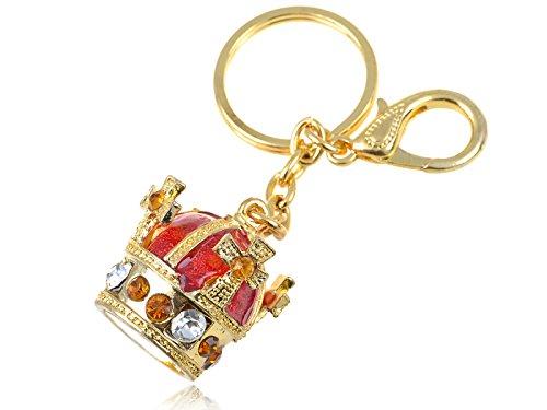 Alilang GoldFarbton Rot Orange Renaissance königliche Majestät König Crown Schlüsselanhänger