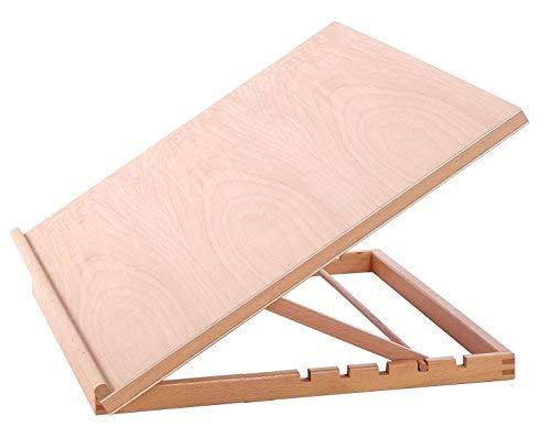Caballete ajustable de madera para escritorio, para dibujo, estación de trabajo para artes y manualidades, tamaño A2