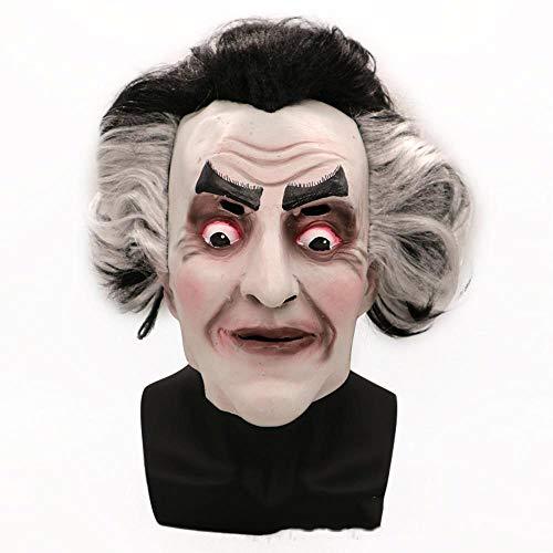 (Circlefly Halloween Horror Maske Weiblichen geisterkönig Grimasse Requisiten Latexmaske Perücke Erwachsenen Thriller Maske)