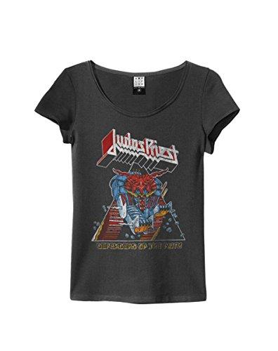 Amplified - Camiseta - para mujer negro negro y gris Medium