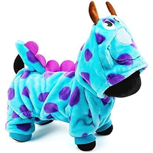 regalos tus mascotas mas kawaii FastDirect Ropa Perro Gato Abrigo Velvet Suéter Mascotas Ropa Disfraz de Dinosaurio con Capucha