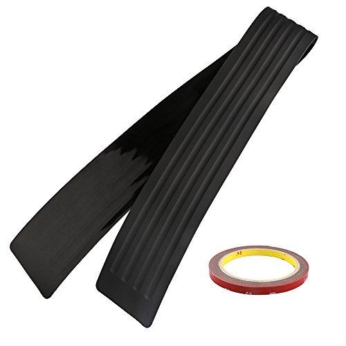 Onerbuy, Striscia di protezione antigraffio in gomma per paraurti posteriore, rivestimento universale per auto, SUV, camioncini, camion, 104 cm (104CM)