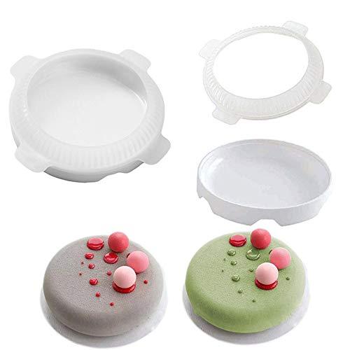 DOGZI Kuchenform Silikon Backformen Set, Küche Backen Back- & Tortenbodenformen, Flache Obere Runde Geformter Kleiner Ball Silikon Kuchen Formen für Mousse Dessert Backformen