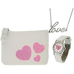Identity London Girls Pink Hearts Jewellery Gift Set