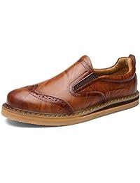 Shenn Hombre Británico Diseño Ponerse Bajo Top Vestir Cuero Zapatos 1688