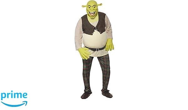 Mens Deluxe Shrek Disney Ogre Book Day Halloween Fancy Dress